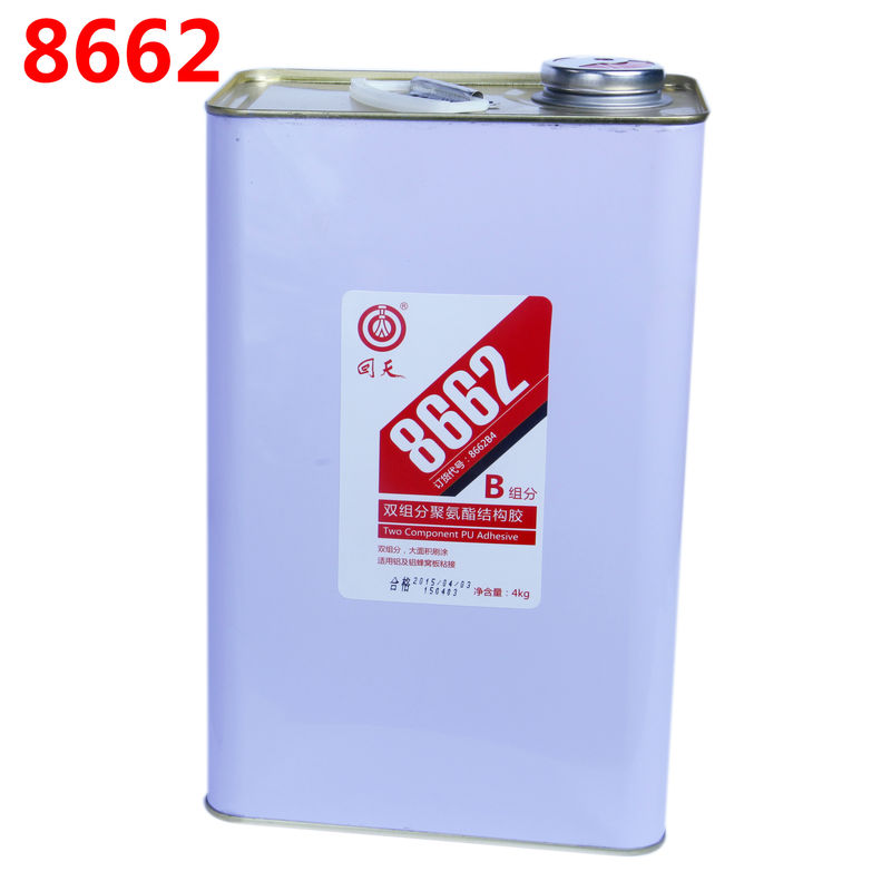 8662 Two component PU structural adhesive , polyurethane adhesive , structural sealant aluminum PVC metal